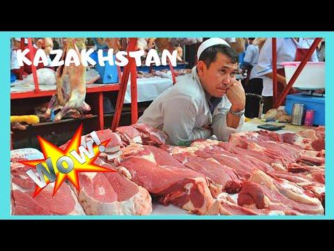 KAZAKHSTAN: Real market 🐴 selling horse meat! (in Almaty)