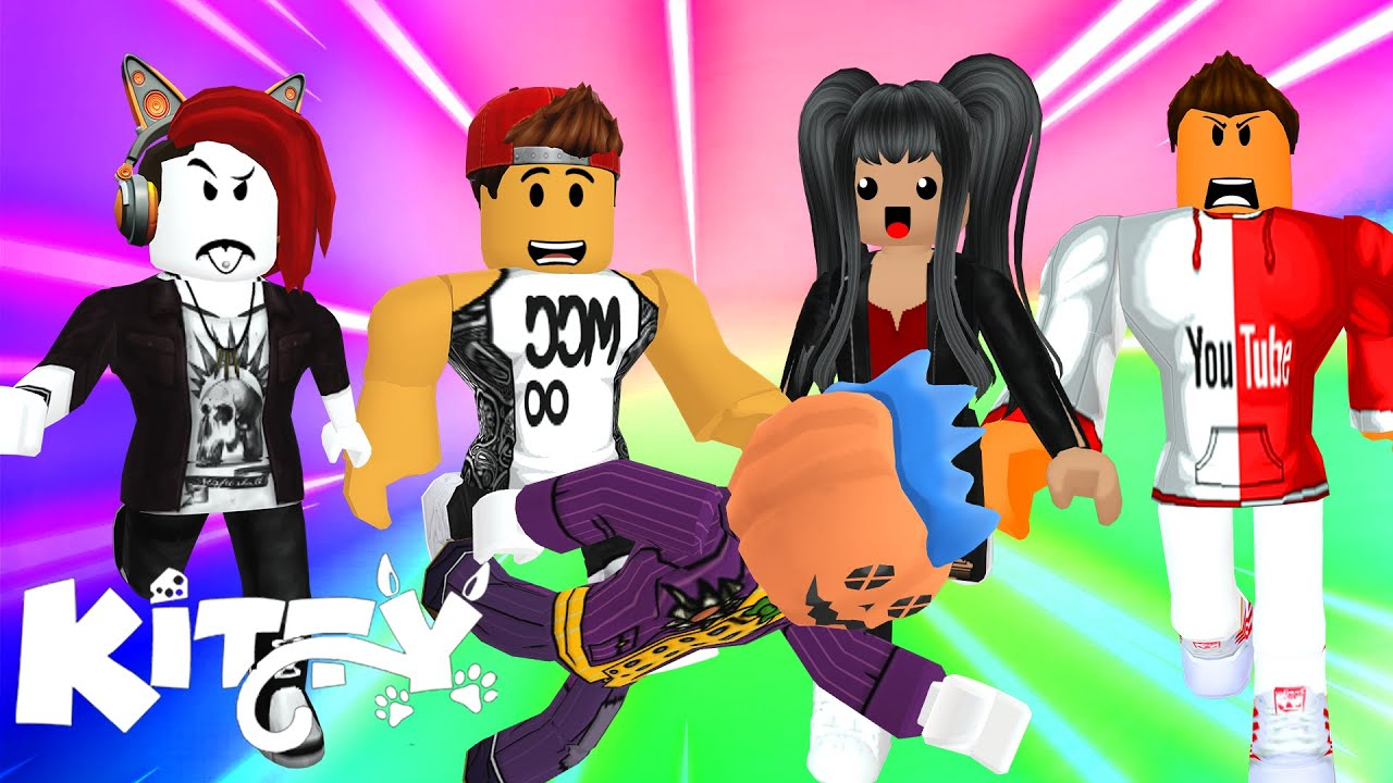 GOING AGAINST ALL MY FRIENDS ON ROBLOX KITTY TOWER RACE!