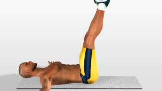 Abs Exercises: Leg Up Touch Crunch Exercise