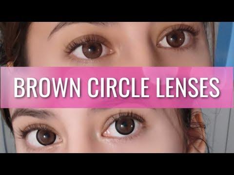 BROWN CIRCLE LENSES