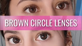 BROWN CIRCLE LENSES FOR DARK EYES | Pinky Paradise Contacts Review