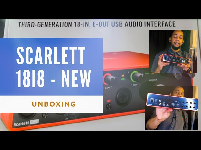 Focurite Scarlett 18i8 3rd Generation Audio Interface | Root and Grind Vlog Unboxing