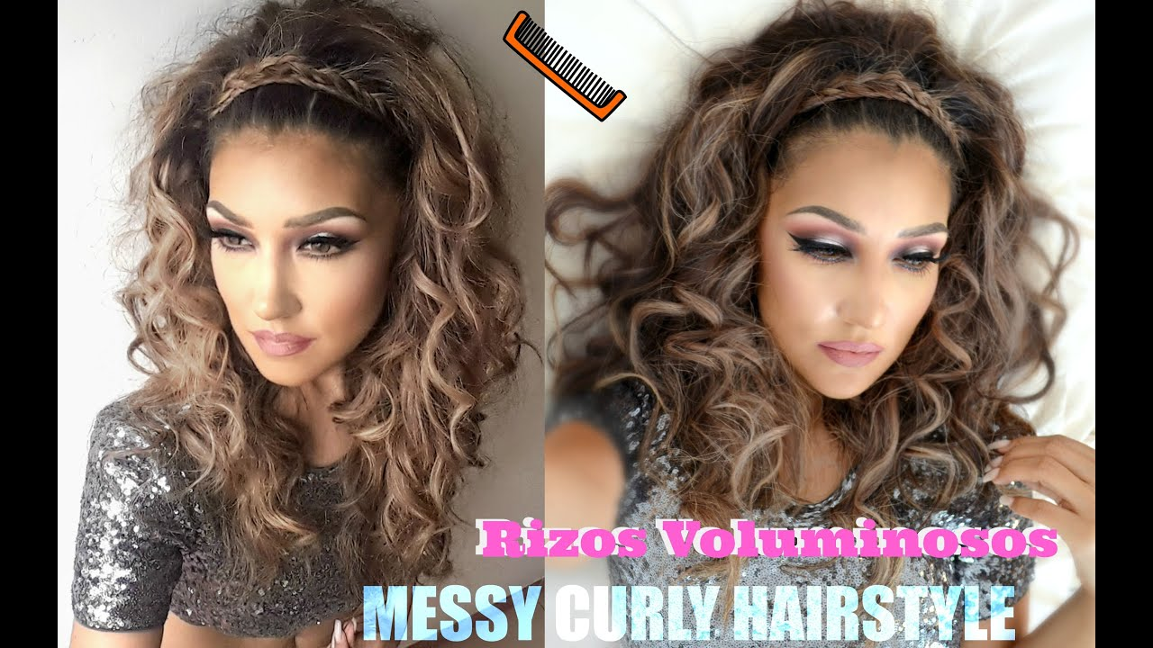 Y Hairstyle Magdeburg: Rizos VOLUMINOSOS ( MESSY CURLY Hairstyle