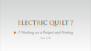 07 Working on a Project and Printing – EQ7 Help