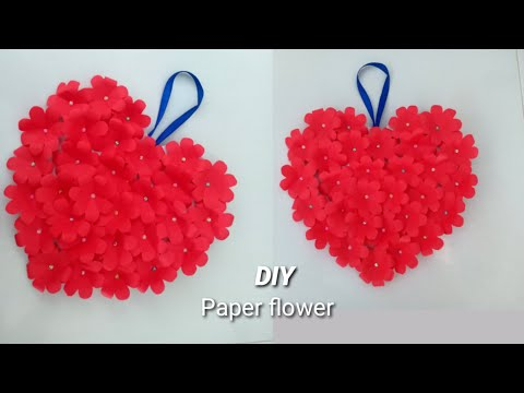 របៀបធ្វើផ្កាក្រដាស់រូបបេះដូង/how-to-make-hearts-flowers/paper-flower/beautiful-flower/paper-crafts