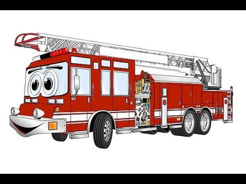 Fire Truck Cartoon Fire Engine Truck Cartoon Cartoon For Kids