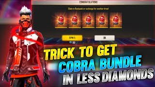 COBRA BUNDLE EVENT TRICK | HOW TO GET COBRA BUNDLE IN LESS DIAMONDS | LEGENDARY BUNDLE TRICK