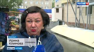 Порывами ветра в Барнауле сорвало вентиляцию со здания