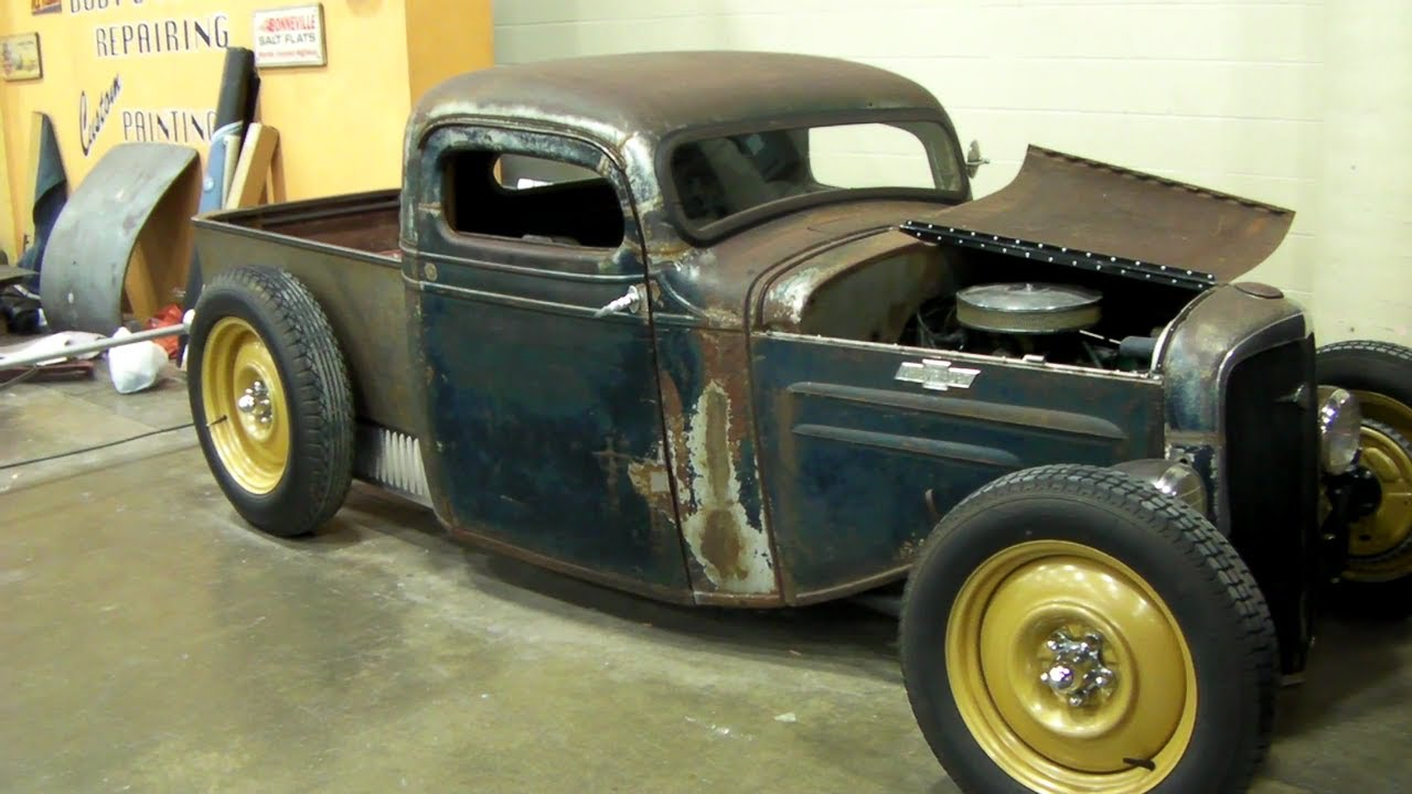 1936 Chevy Rat Rod Truck, Chopped - YouTube