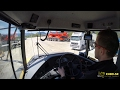 Volvo A30G drives on construction site - dumper cab view