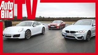 Porsches Turbotier im Vergleich mit BMW M4 & Nissan GT-R - Review/ Test/ Fahrbericht/ Sound