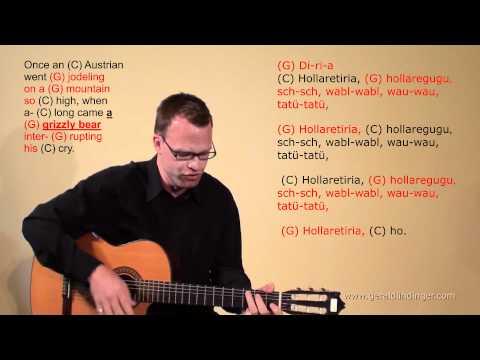 Gerald Lindinger: Once an Austrian went jodeling / langsam / C