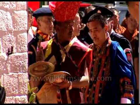 Bhutanese army parade - pageantry at 25 Year enthronement celebrations