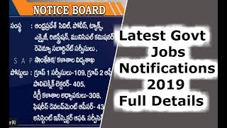 Latest Govt Jobs Notifications 2019 Full Details | Notice Board | AP Prime | SAPNET | Govt. Of Ap