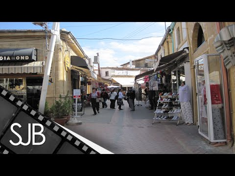 Walking Around North Nicosia in the Turkish Republic of Northern Cyprus - Lefkoşa, Kuzey Kıbrıs