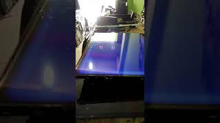 LG 32 LB550.. cara memperbaiki layar bergaris di sertai berkabut