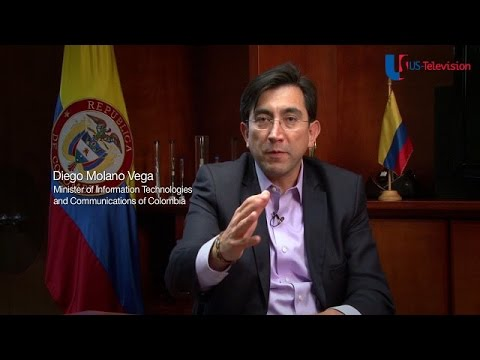 US Television - Colombia - Interview with Minister of Information