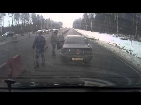 Авария 15.11.2015 на М7 в Лакинске (где ремонт дороги)