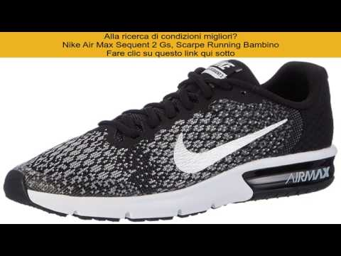save off e8fe1 75537 Nike Air Max Sequent 2 Gs, Scarpe Running Bambino