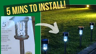 INSTALLING LED SOLAR GARDEN LIGHTS