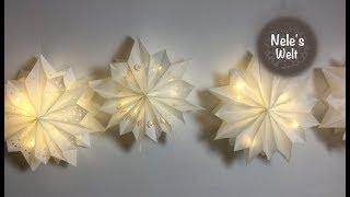 Stern aus Butterbrottüten, Leuchtstern, DIY by Nele