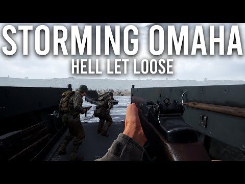 Storming Omaha Beach in Hell let loose