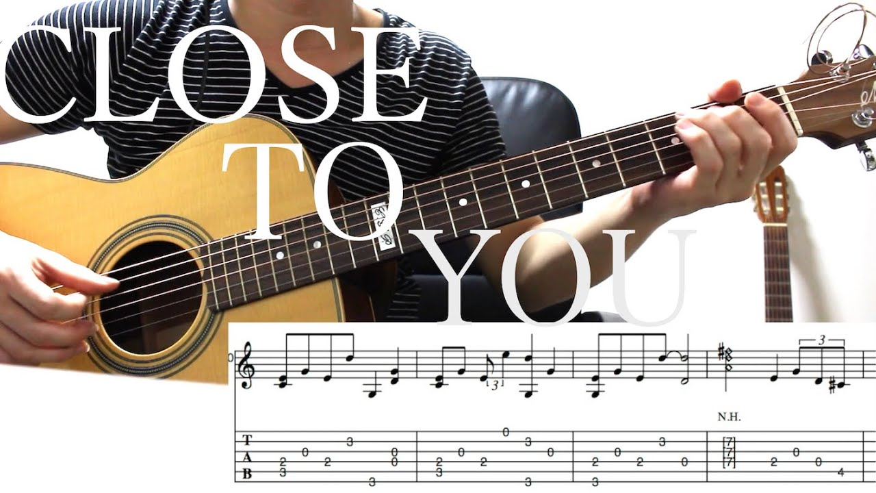 Close To Yousolo Guitar Arrangement With Tab Youtube