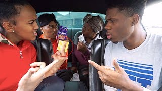 FOUND CONDOMS IN THE CAR PRANK ON GIRLFRIEND!!! FT TRAY & IAM JUST AIRI