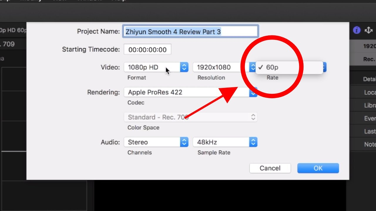 8178e905c32 How to Change Project Frame Rate | Final Cut Pro X Tutorial ...