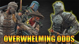 The 1VS.4 with Warden - Fighting against Overwhelming Odds [For Honor]