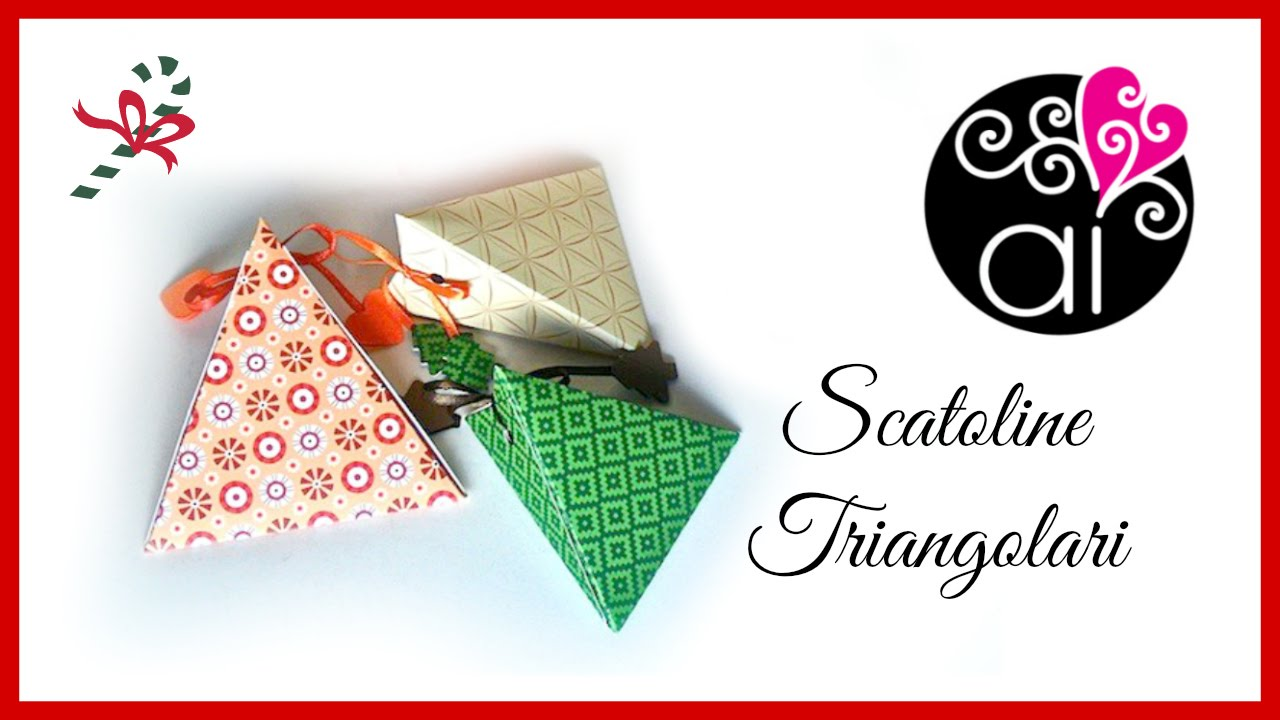 Famoso Scatolina triangolare semplice | Tutorial | Senza uso di  QR65