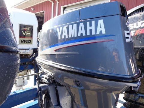 6M4C74 Used Yamaha 50TLR 50HP 2-Stroke Remote Outboard Boat Motor 20