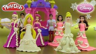 Pâte à modeler Princesse Poupées Magiclip Raiponce Cendrillon Coffret Mariage Reine des neiges