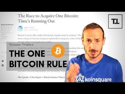 E Se Ti Dicessi Che Il Tempo Per Avere 1 Bitcoin Intero Sta Per Finire?