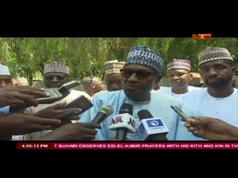 Crowd Rally Round President Muhammadu Buhari in Daura After Eid-el-Kabir Prayers