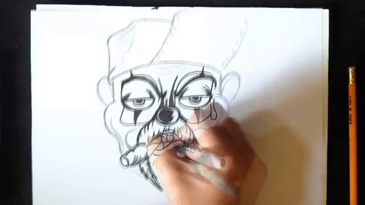 Wie Zu Zeichnen Ein Clown Graffiti