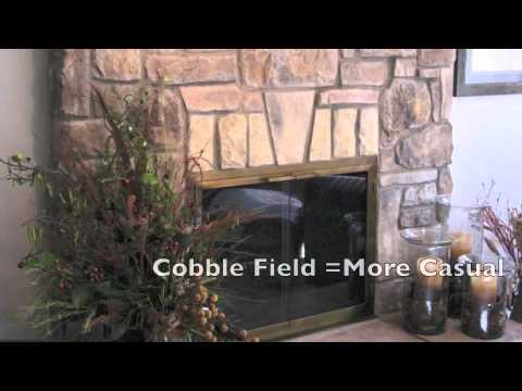 Cobble Stone Fireplace Design Ideas and pictures