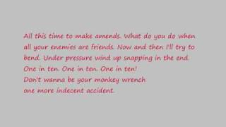 Foo Fighters- Doll and Monkey Wrench Lyrics