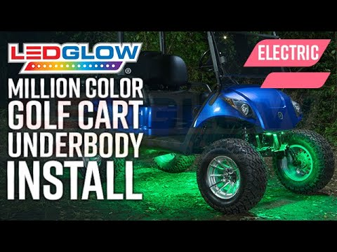Ledglow How To Install Led Underbody Lights On An Electric Golf Cart