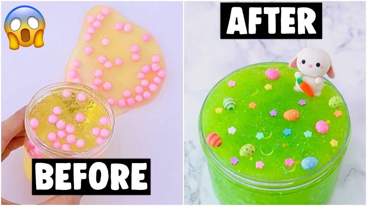 EXTREME UNBELIEVABLE SLIME MAKEOVERS *fixing my old slimes*