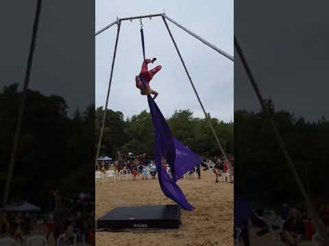 Southern Humboldt community park fund raiser. Aerial silks