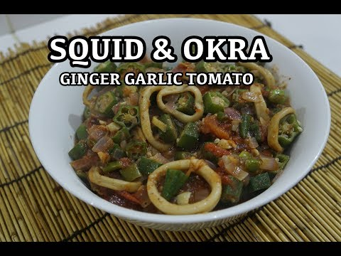 Okra Squid Stir Fry Recipe - Asian Wok