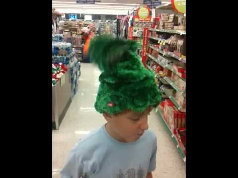 3e59b82c5cfe7 Dancing Christmas tree hat - YouTube