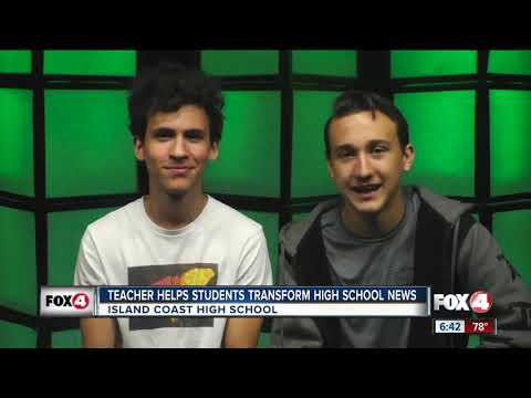 Island Coast High School teacher helps students transform high school news