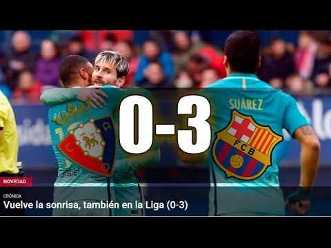 Osasuna vs FC Barcelona [0-3][10/12/2016][La Liga | Jornada 15] EL BARÇA JUGA A RAC1