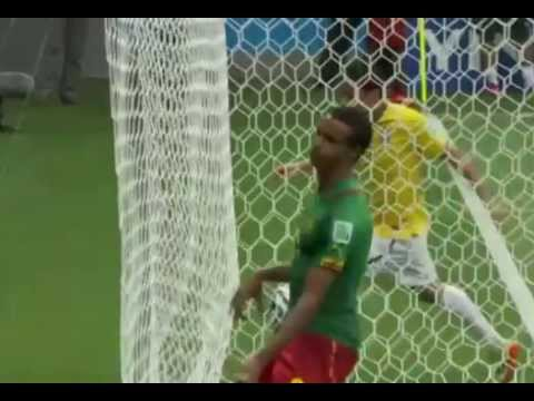 Offside goal by Fred in Cameroon VS. Brazil