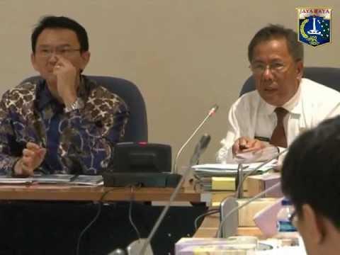10 Des 2012 Wagub Bpk. Basuki T. Purnama Rapat Pembahasan PTSP Part 1/2