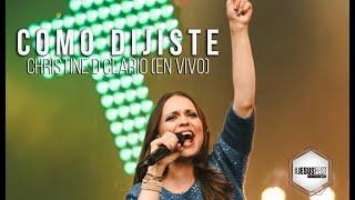 Christine D´Clario - Como Dijiste (LIVE) - #JesusFest con Ale Gomez