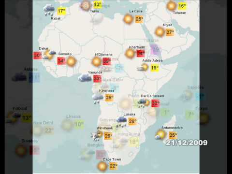 World weather / Météo monde