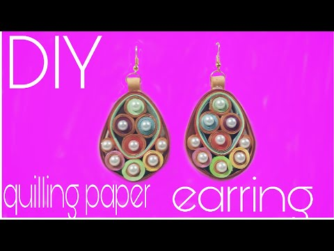 paper earrings jhumka l paper,quilling,tutorial